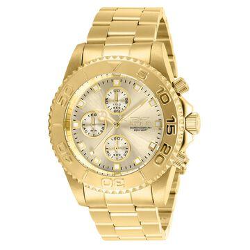28683 Mens Pro Diver Quartz Multifunction Champagne Dial Watch