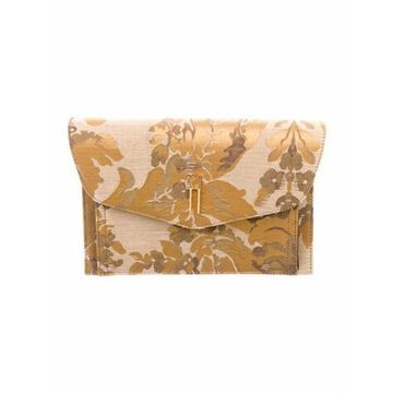 Printed Bobby Clutch Gold