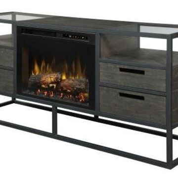Dimplex GDS26L8-4034NB Ivan Media Console Fireplace with Logs