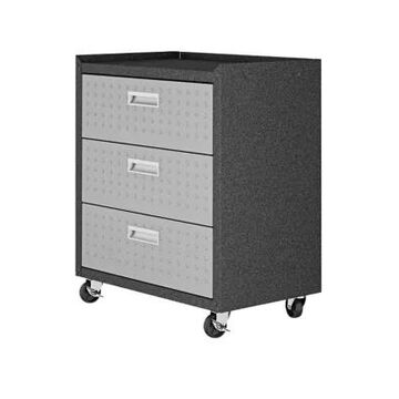Manhattan Comfort 31.5 Inch Fortress Garage Mobile Chest With 3 Full Extension Drawers -