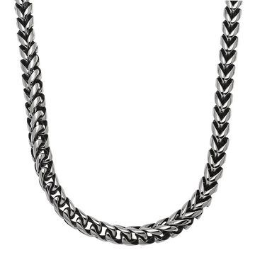 """Men's LYNX Stainless Steel Foxtail Chain Necklace - 24 in., Size: 24"""", Grey"""