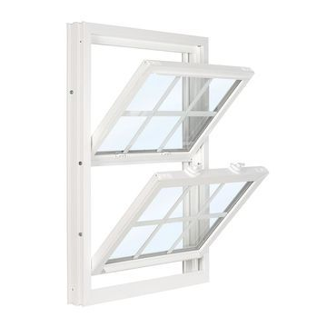 ReliaBilt 3500 Vinyl Replacement White Exterior Double Hung Window (Rough Opening: 36-in x 45.75-in; Actual: 35.75-in x 45.5-in)