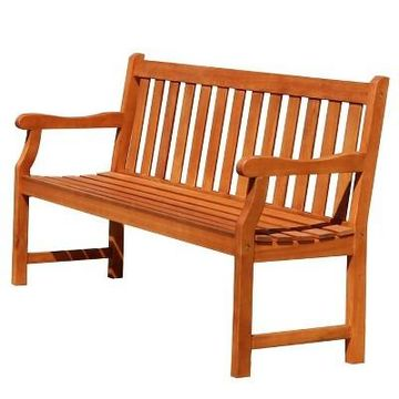 Vifah Baltic 5ft Outdoor Wood Bench - Brown