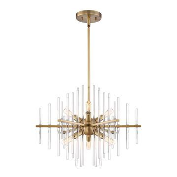 Designers Fountain Reeve 6-Light Burnished Antique Brass Transitional Chandelier | 90486-BAB