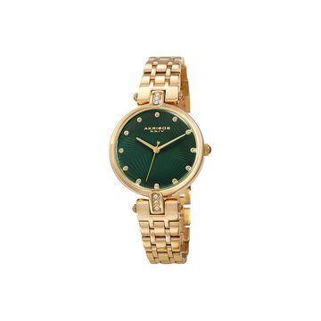 Akribos XXIV Womens Gold Tone Bracelet Watch-A-1085gn