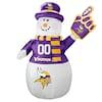 Boelter Brands Minnesota Vikings 7-ft Lighted Snowman Christmas Inflatable