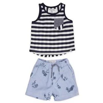Sovereign Code Size 6M 2-Piece Yield Tank Top & Short Set in Navy/Blue
