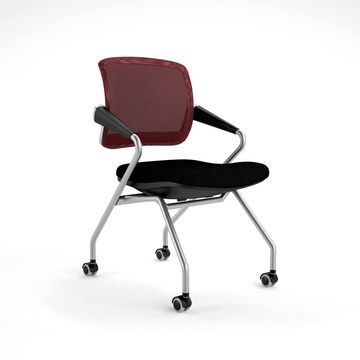 Mayline Valore Series Mid Back Task Chair (Silver/Black)