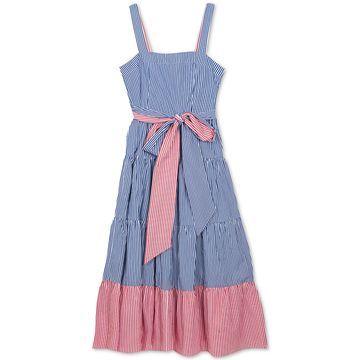 Big Girls Plus Striped Cotton Maxi Dress