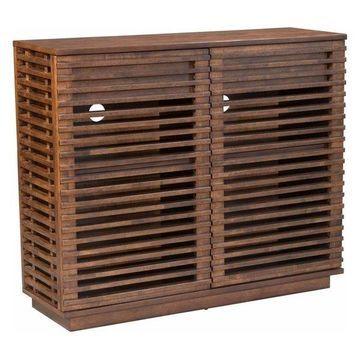 Zuo Modern Linea Cabinet, Walnut