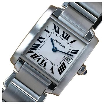 Cartier Tank Francaise White Steel Watches