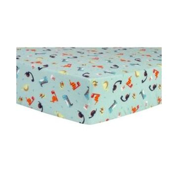 Trend Lab Dinosaurs Flannel Crib Sheet Bedding