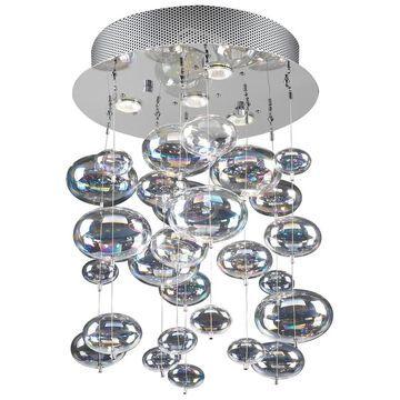 PLC Lighting 16-in Polished Chrome Halogen Flush Mount Light   96962 PC