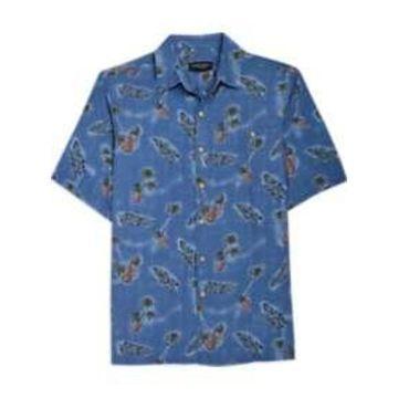Pronto Uomo Blue Pineapple Camp Shirt