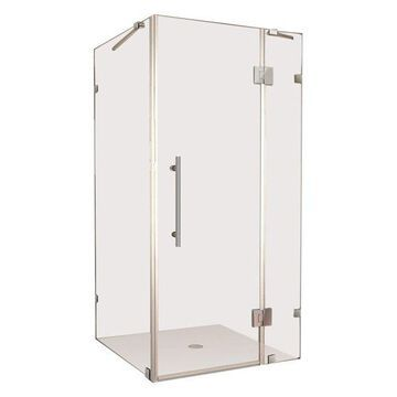 Aston Avalux Frameless Shower Enclosure, Stainless Steel, 37