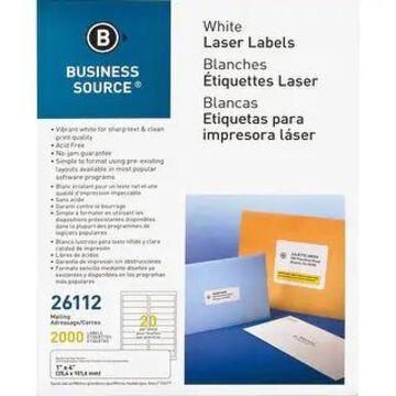 Business Source Bright White Premium-quality Address Labels (White)