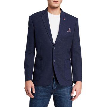 Men's Burnley Slub-Knit Blazer Jacket