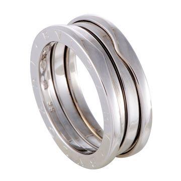 Bvlgari B.Zero1 Womens White Gold 3-Band Ring