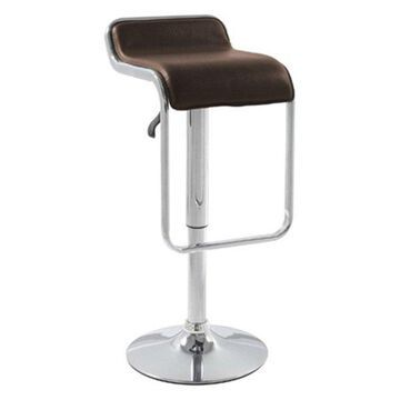 Fine Mod Imports Flat Barstool Chair, Brown