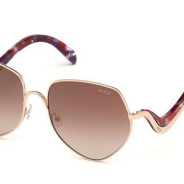Emilio Pucci EP0119 28F Womenas Sunglasses Rose-Gold Size 59