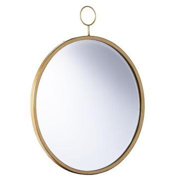 Boston Loft Furnishings Luster 27.5-in L x 22.75-in W Round Golden Bronze Beveled Wall Mirror   ATG3656