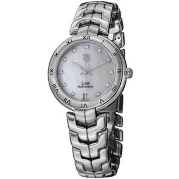 Tag Heuer Women's WAT2315.BA0956 'Link' Mother of Pearl Dial Stainless Steel Automatic Watch