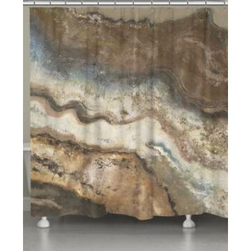 Laural Home Lava Flow Shower Curtain Bedding