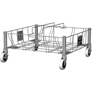 Rubbermaid Commercial Vented Slim Jim Double SS Dolly 1956191