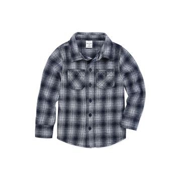 Okie Dokie Boys Long Flannel Shirt-Toddler