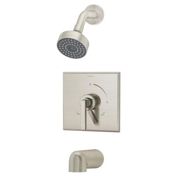 Symmons Duro Satin Nickel 1-Handle Bathtub and Shower Faucet (Valve Not Included) | S-3602-STN-TRM