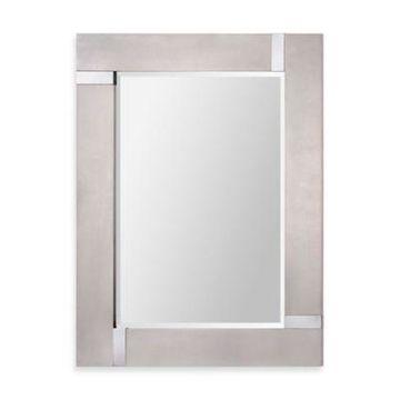 Ren-Wil 30-Inch x 40-Inch Capiz Rectangular Mirror in Silver