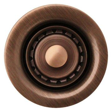 Whitehaus WC2BASK-ACO 2'' Bar Sink Basket Strainer In Antique Copper