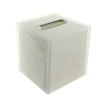 Nameeks RA02 Gedy Collection Tissue Box Cover, White