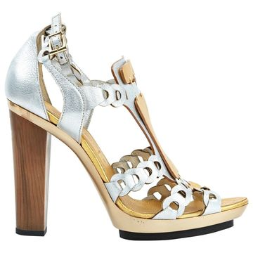 Barbara Bui Silver Leather Sandals