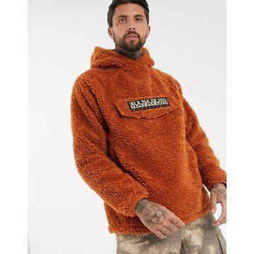 Napapijri Telve 1 teddy fleece in rust-Brown