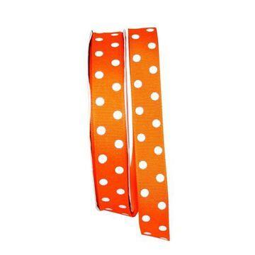 "JAM Paper 7/8"" Grosgrain Aspirin Dots Ribbon in Orange   7/8"" x 50yd   Michaels"