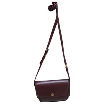 Vintage Cartier Burgundy Leather Handbag