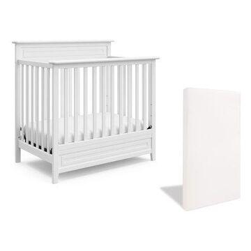 Storkcraft Petal Mini 4-in-1 Convertible Crib, White