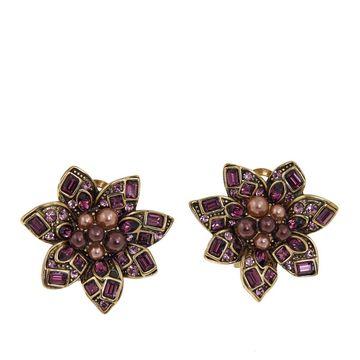 Heidi Daus Crystal Floral Earrings