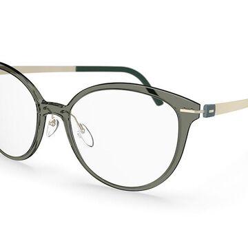 Silhouette Infinity View Full Rim 1594 8640 Men's Glasses Grey Size 51 - Free Lenses - HSA/FSA Insurance - Blue Light Block Available