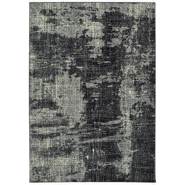 Archer Lane Edmonds 8 x 10 Black Indoor Abstract Industrial Area Rug | 180LUA5K7L