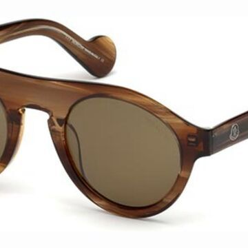 Moncler ML0039 47J Men's Sunglasses Brown Size 48