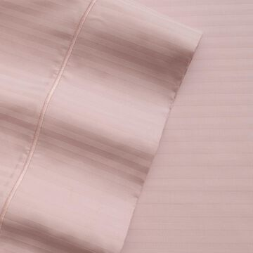 Elite Home Products 600 Thread Count Silky Soft Stripe Sheet Set