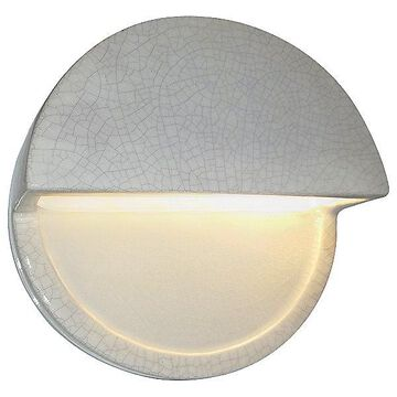 Justice Design Group Ambiance Dome Closed Top LED Wall Sconce - Color: Black - CER-5610-STOS