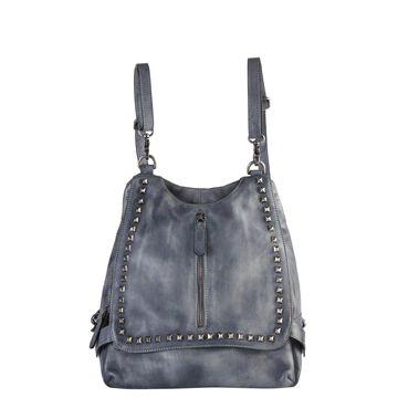Diophy Stylish Vintage Stud Leather 2 Ways Use Backpack
