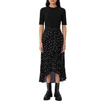 Maje Rivolo Embroidered Midi Dress