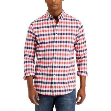 Club Room Men's Oxford Check Shirt, Created for Macy's