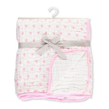 Hudson Baby Tranquility Dream Muslin Blanket - Pink Sheep