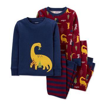 Carter's Baby Boys 4-Pc. Dino Cotton Pajamas