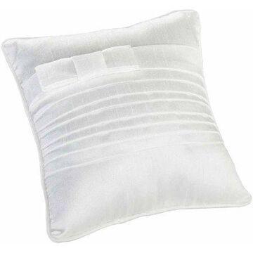Lillian Rose White Pleated Silk Ring Bearer Pillow